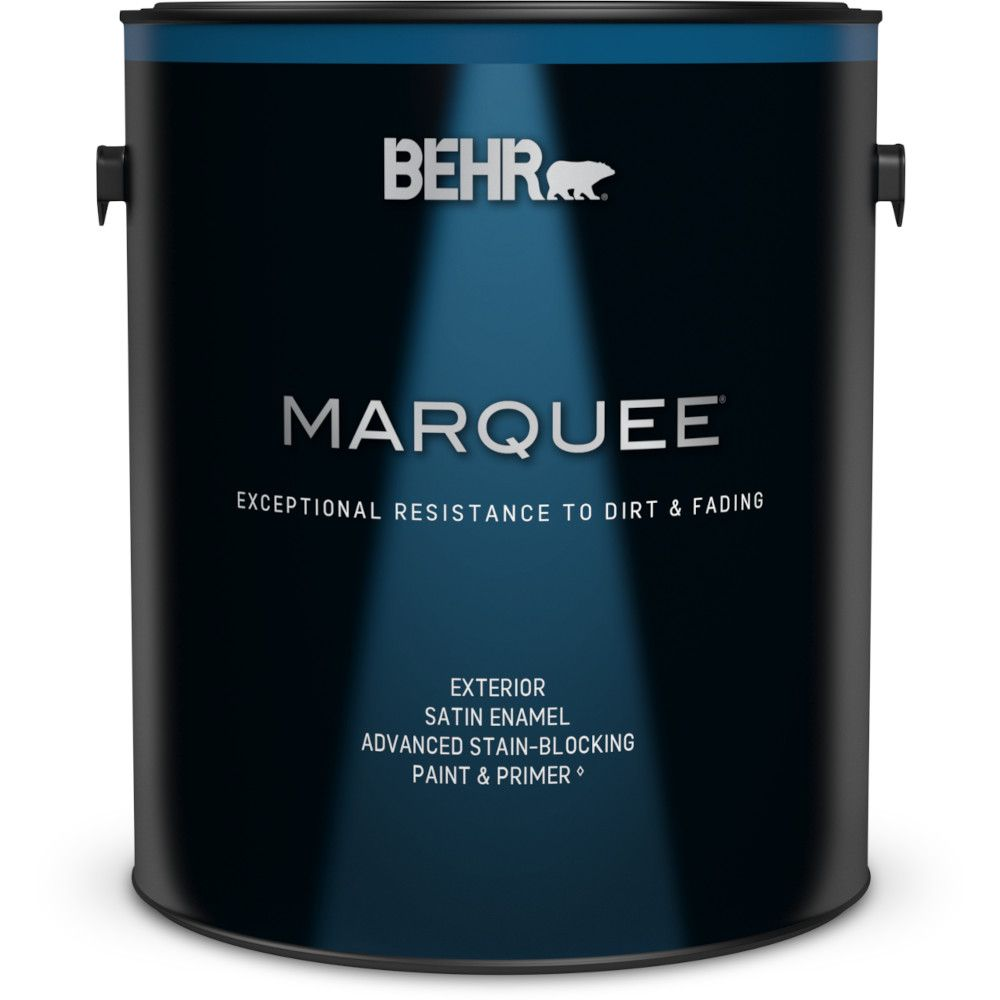 Behr Marquee Marquee 3.7 L Ultra Pure White Satin Enamel Exterior Paint with Primer