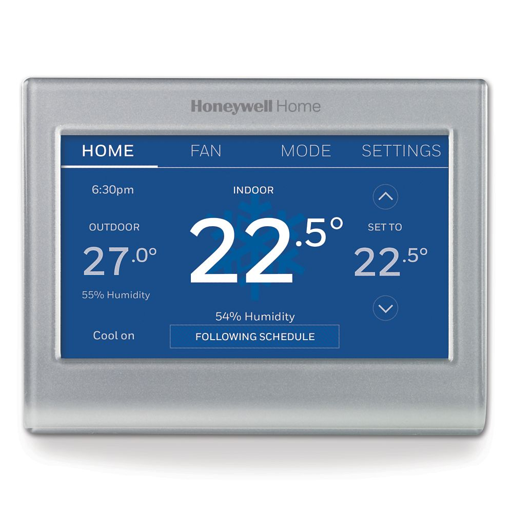 Thermostats Smart Wifi Programmable The Home Depot Canada Wiring Thermostat For Outdoor Wood Boiler Honeywell Wi Fi Colour