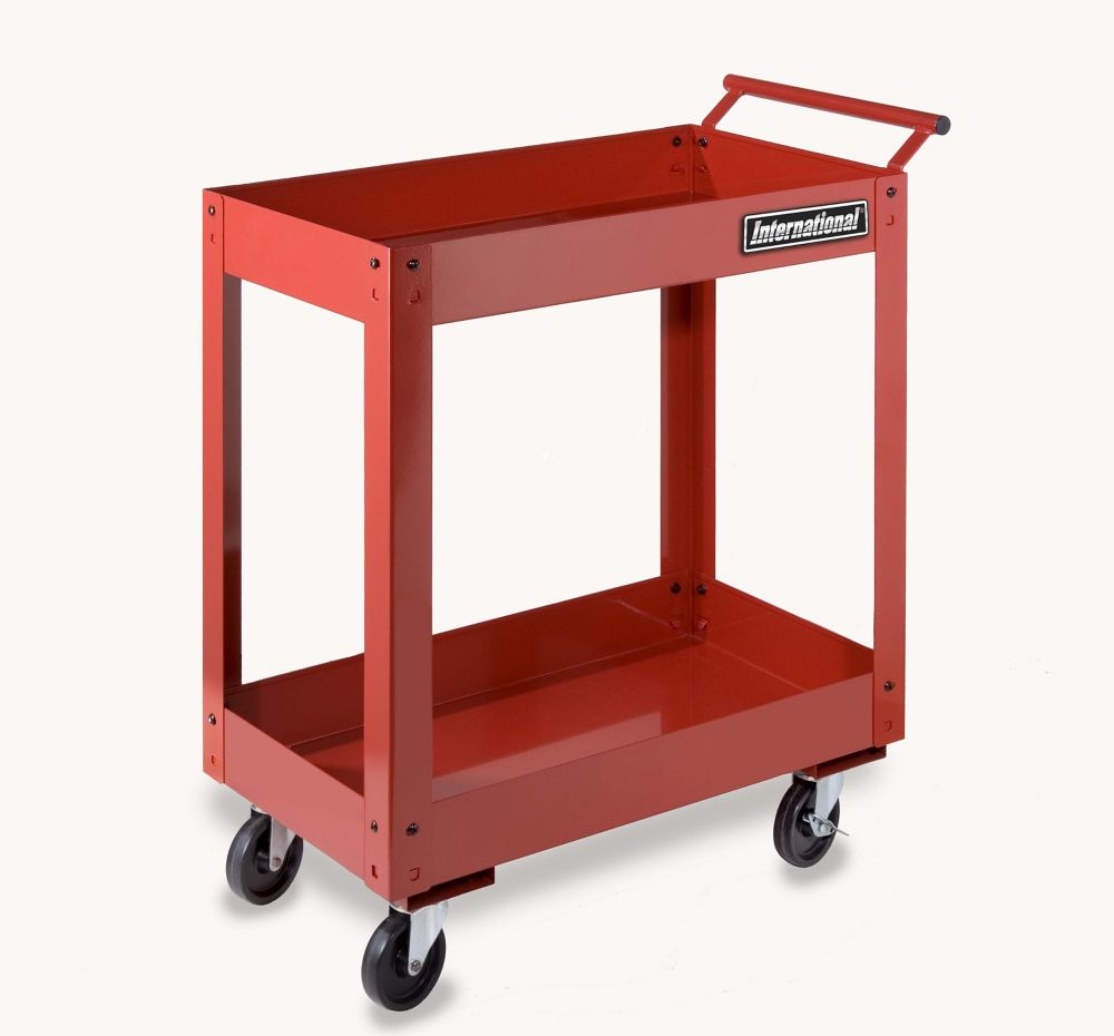 2 tray utility cart