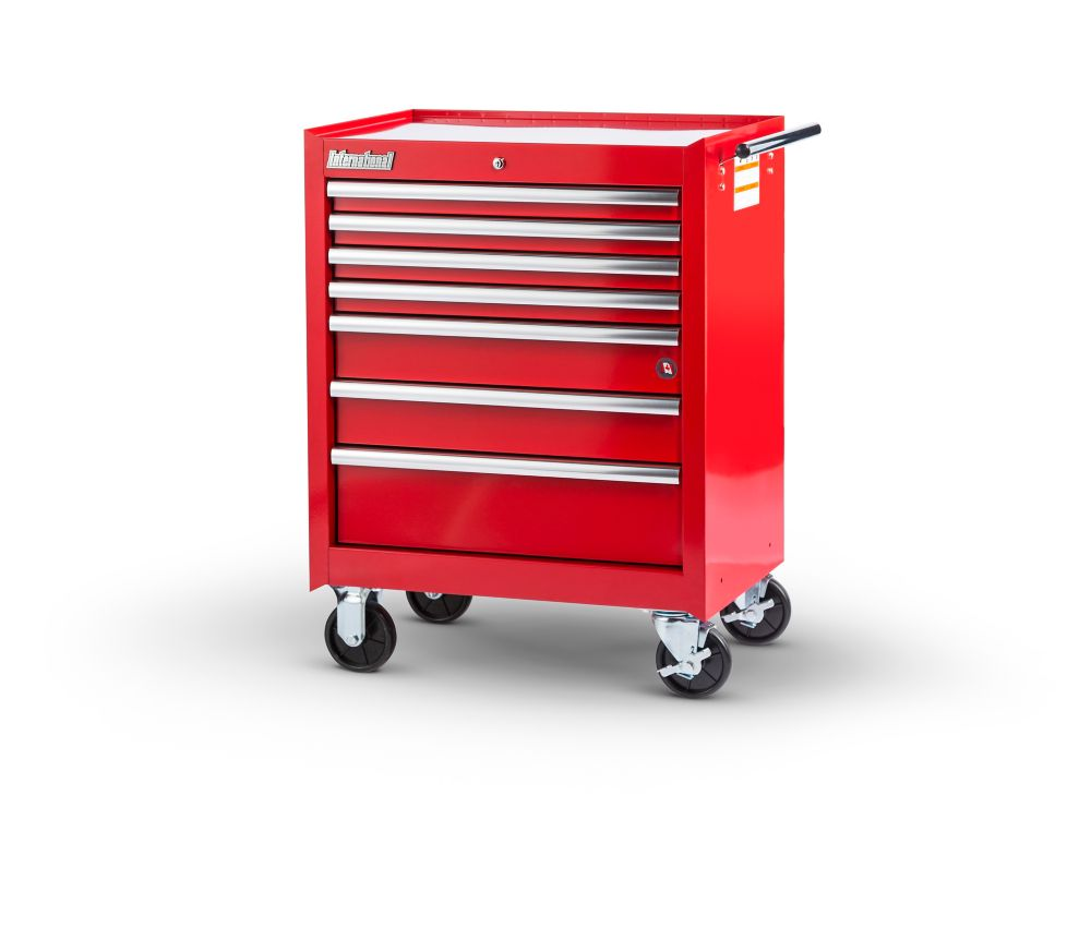 27  Inch. 7 drawer Cabinet, Red