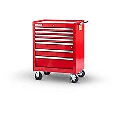 27  Inch. 7 drawer Cabinet, Red