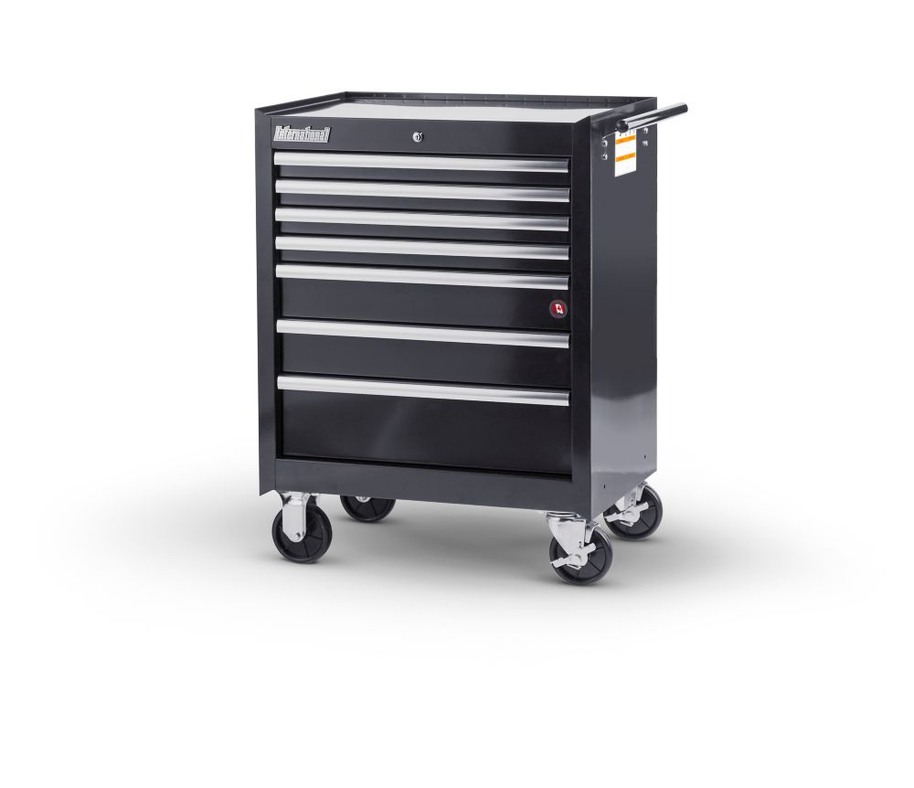27  Inch. 7 drawer Cabinet, Black