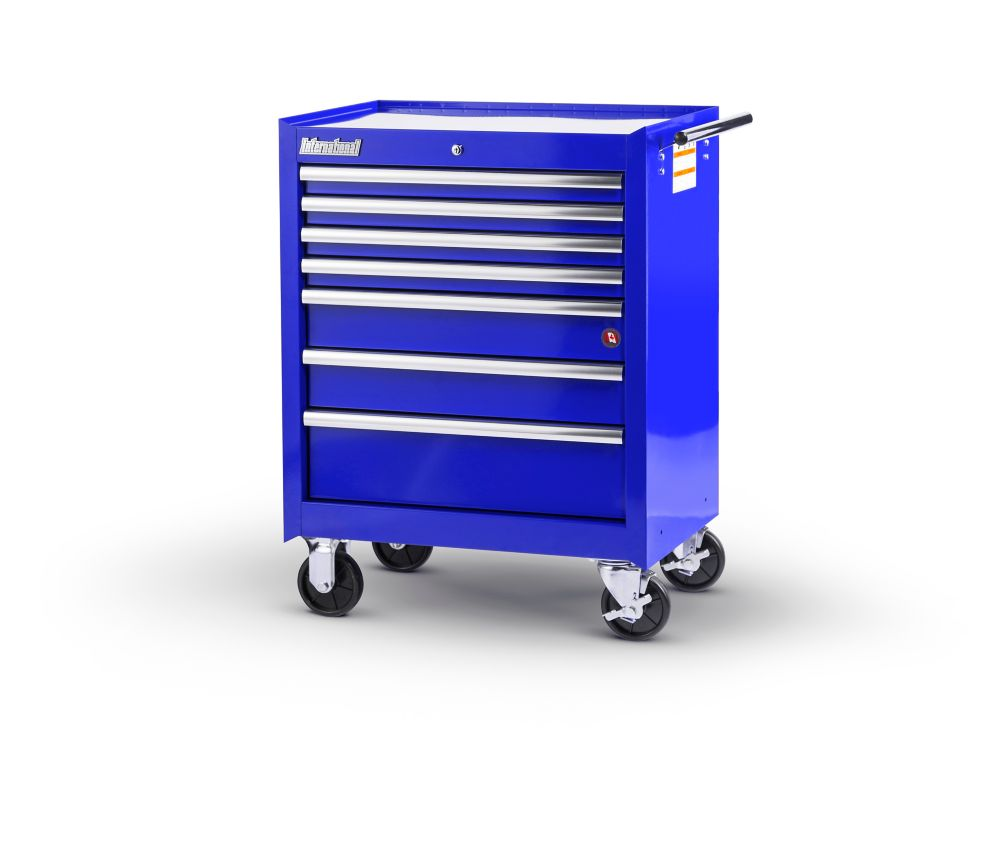 27  Inch. 7 drawer Cabinet, Blue