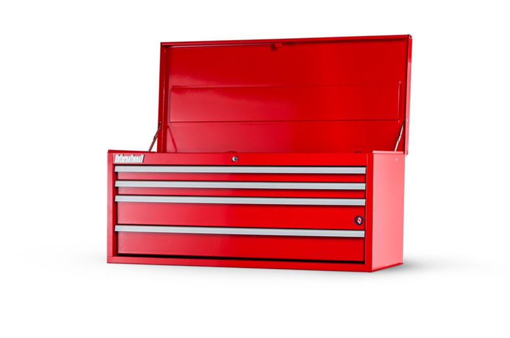 International 42  Inch. 4 drawer Top Chest, Red
