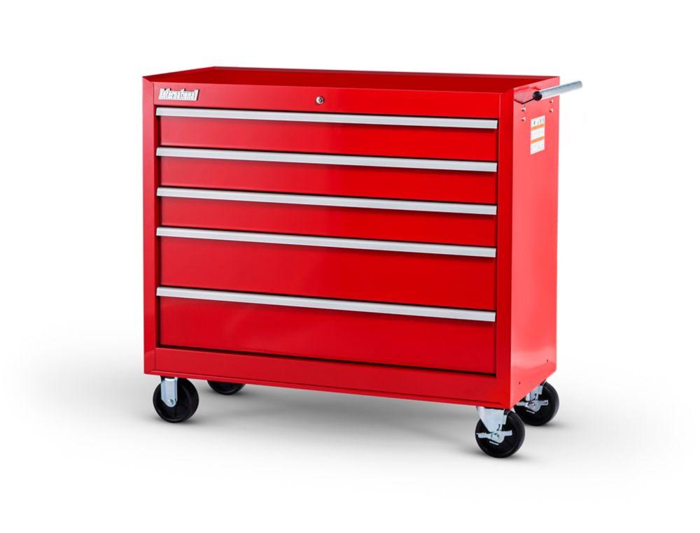 42  Inch. 5 drawer Cabinet, Red