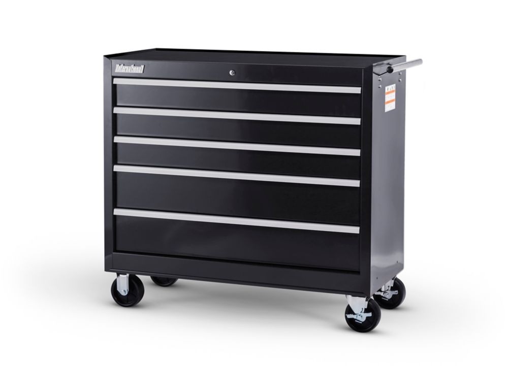 42  Inch. 5 drawer Cabinet, Black
