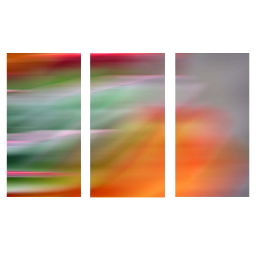 Myah Triptych Stretched Canvas Panels, 15X31.5X1.25 Each-Fireworks