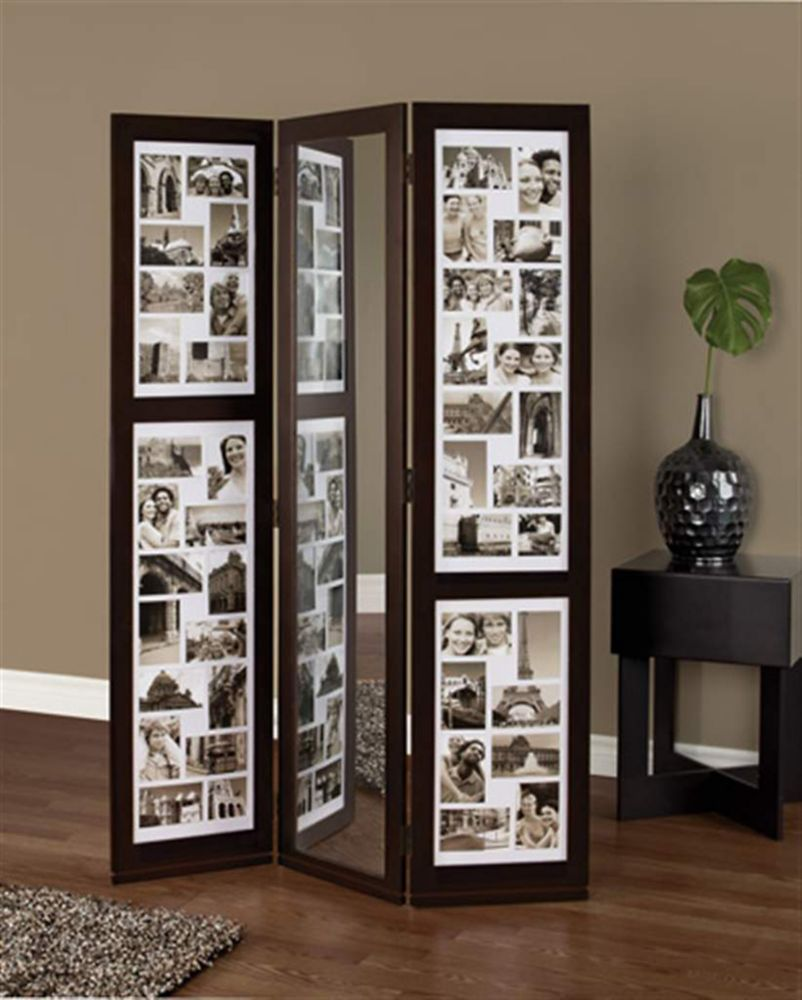 Preston Floor Triple Panel Collage(42-4X6, 2-4X4) And Mirror, 42 Inch X 65 Inch