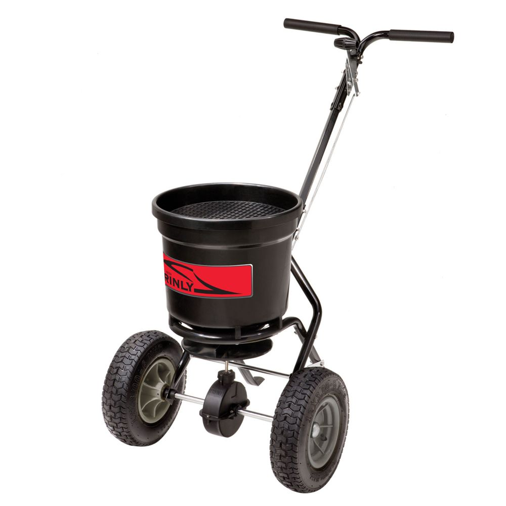 Push Broadcast Spreader : Brinly hardy lb push broadcast spreader the home