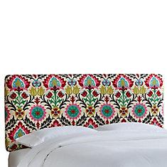Housse pour tête de lit jumeau en tissu Santa Maria de ton fleur du désert