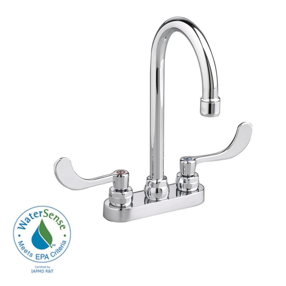 Monterrey 4-inch 2-Handle High-Arc Bathroom Faucet with Pop-Up Drain Rod in Chrome Finish