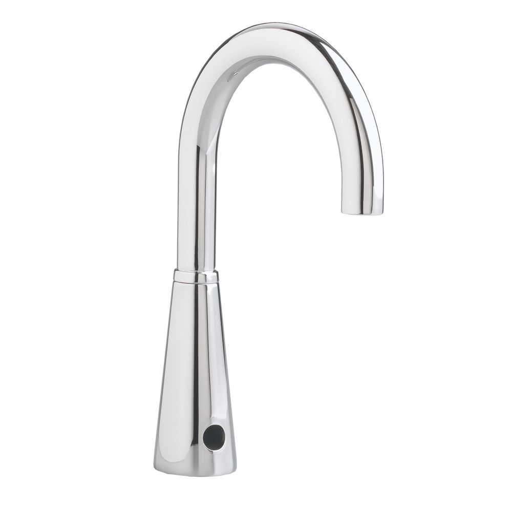 Selectronic AC-Powered Touchless Bathroom Faucet with 6-inch Gooseneck Spout in Polished Chrome