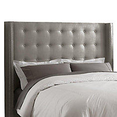 skyline furniture california king inset nail button headboard in groupie pewter with pewter nail. Black Bedroom Furniture Sets. Home Design Ideas