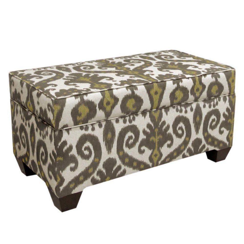 Upholstered Storage Bench in Marrakesh Graphite