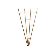 Small 45-inch x 22-inch Cedar Fan Trellis