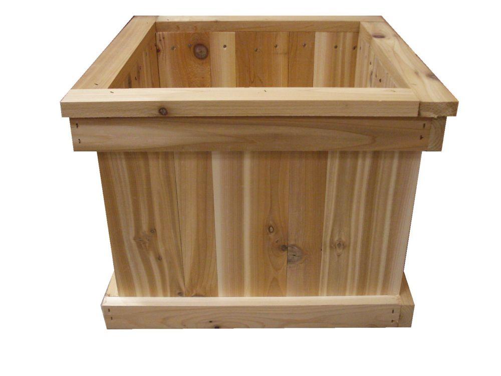 16 In. Square Cedar Planter Box