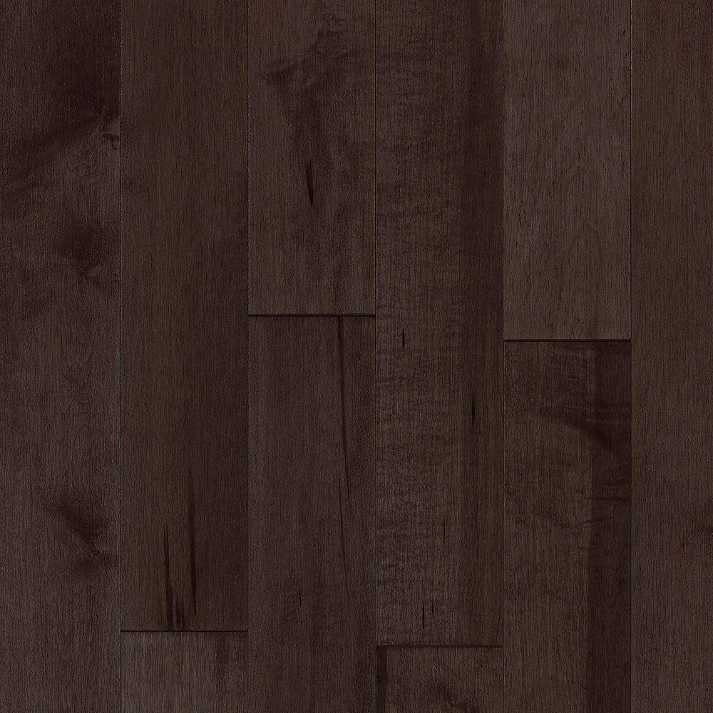 Dubeau Plancher, bois massif, 3/4 po x 3 1/4 po, Érable dur chocolat, 20 pi2/boîte