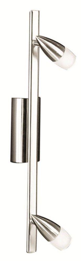NANDO 2L Track, Matte Nickel Finish, Satin Glass 86144A Canada Discount