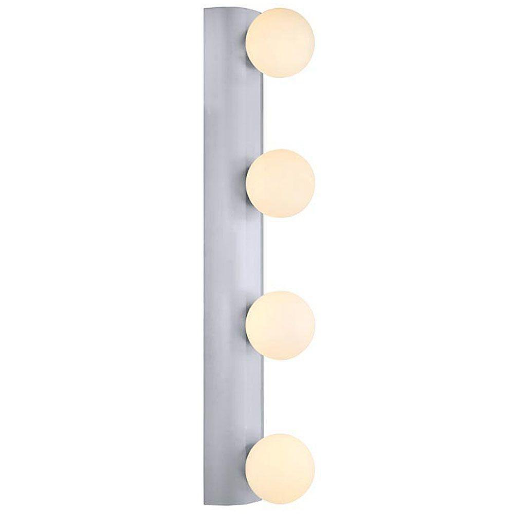 NESO Wall Light 4L, Aluminum Finish, White Opal Glass