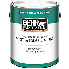 BEHR PREMIUM PLUS Interior Semi-Gloss Enamel Paint - Medium Base, 3.54 L