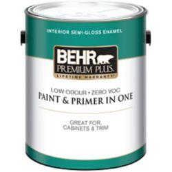 Behr Premium Plus BEHR PREMIUM PLUSMD  Peinture intérieure émail semi-brillant - Base moyenne, 3,54 L