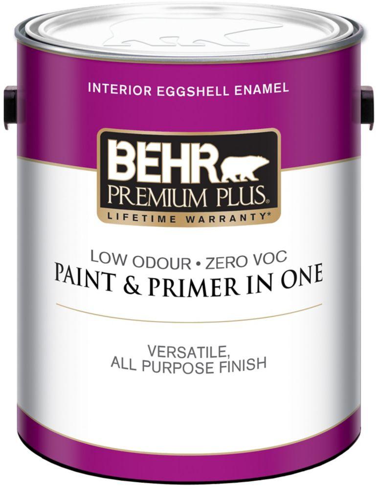 BEHR PREMIUM PLUSMD  Peinture intérieure émail coquille d'oeuf - Base moyenne, 3,54 L