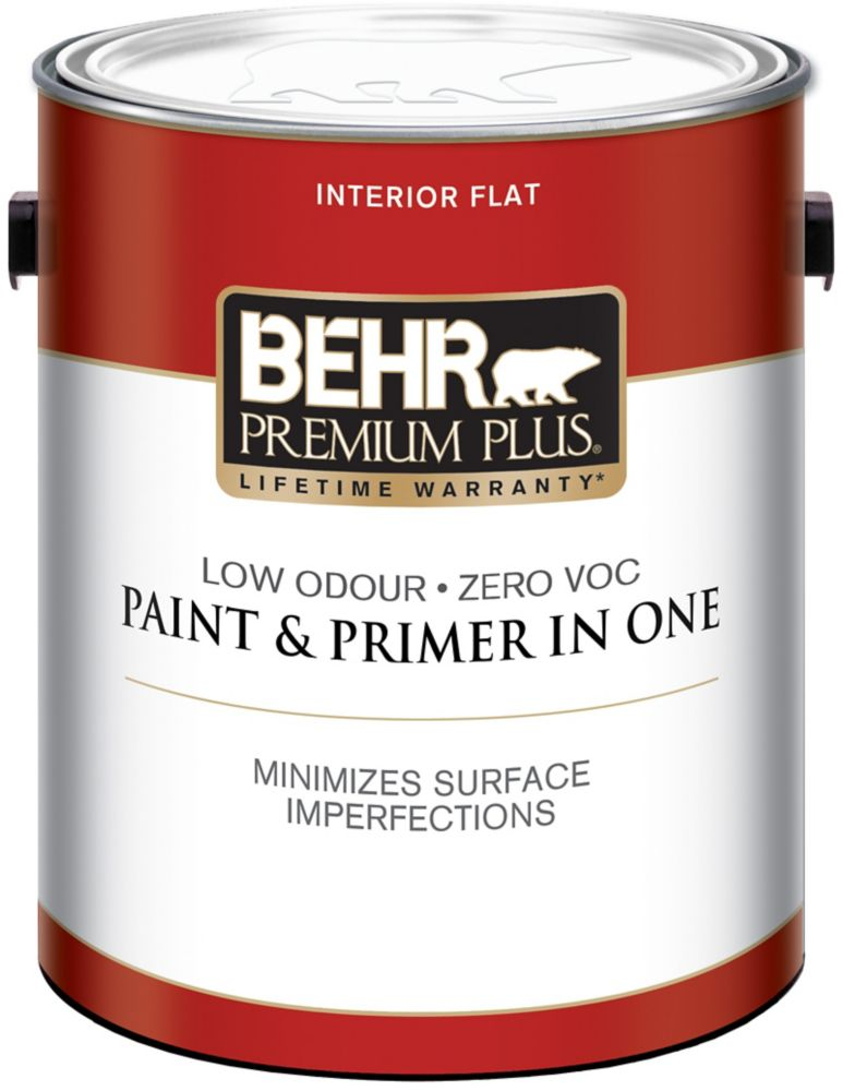 Behr premium plus behr premium plus interior flat paint medium base l the home depot Home depot interior paint prices