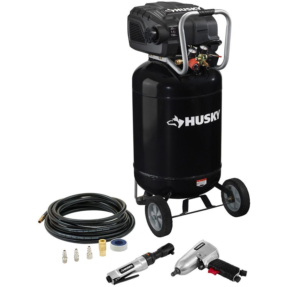 Husky 20 Gallon Compressor With Tools