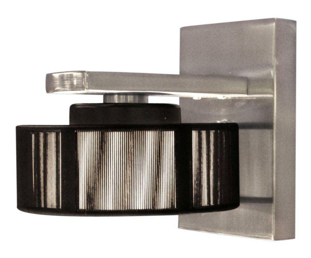 MONIQUE Wall Light 1L, Matte Nickel Finish, Black Shade