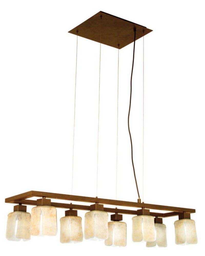 NORWICH Suspension 8L, Antique Brown Finish, Sand Glass