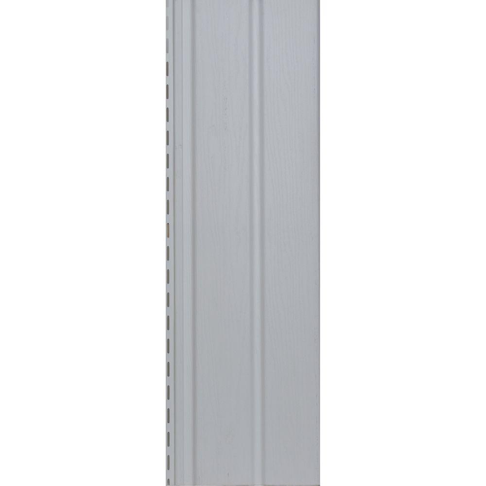 Solid Vertical Siding D5 Soffit - White Carton