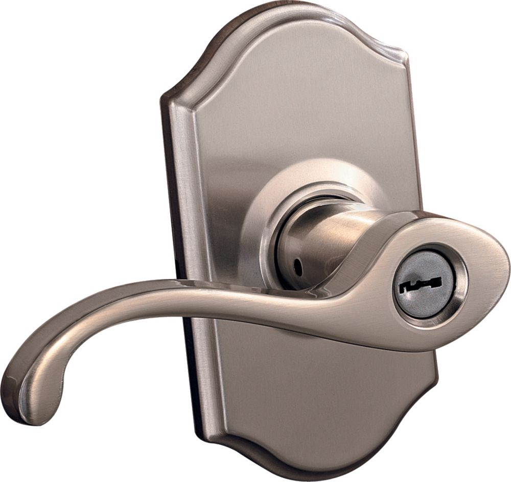 Commonwealth Satin Nickel Keyed Entry Lever