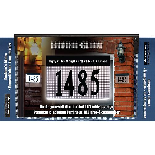 Designer's Choice Enviro-Glow Do-It-Yourself Illuminated Address Plaque Kit