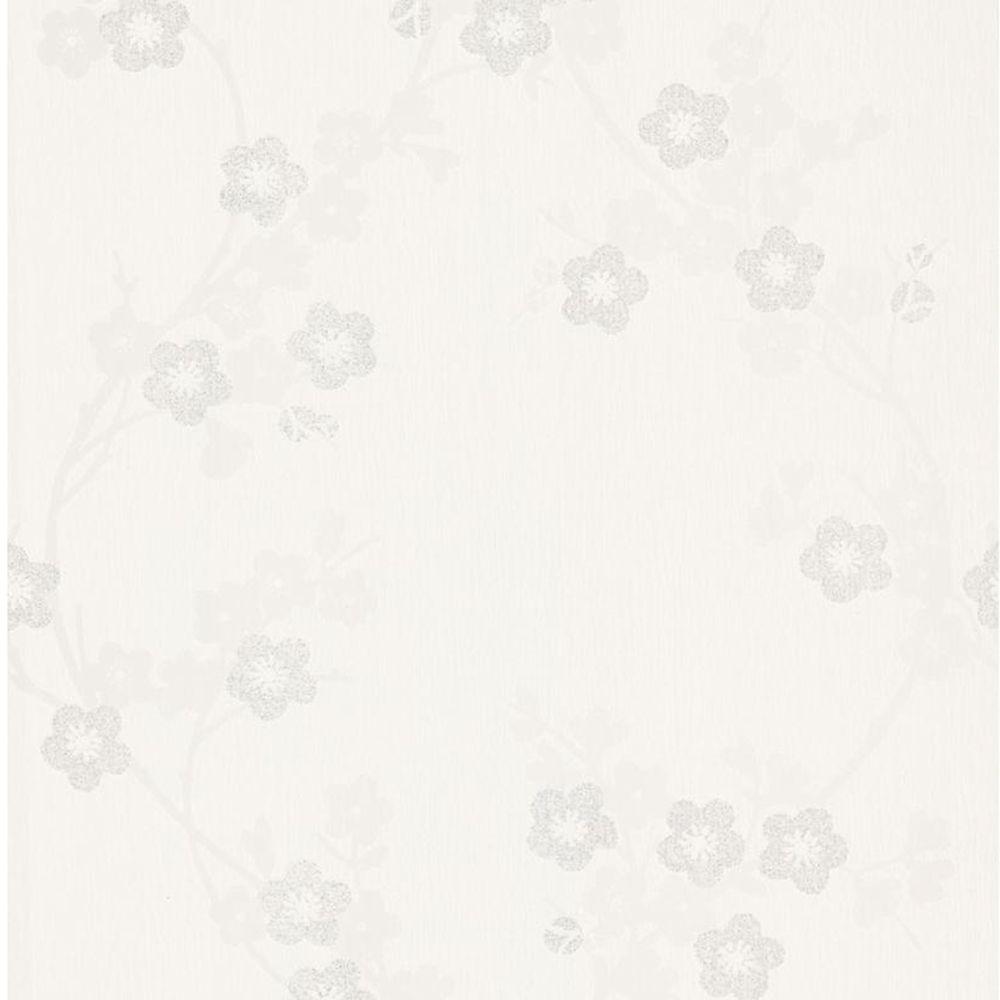 Cherry Blossom White Mica Wallpaper