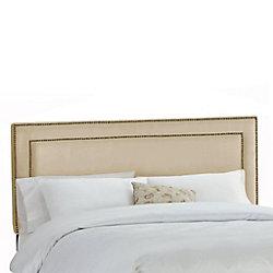 Skyline Furniture Dossier capitonné pour lit très grand en premier microsuede, les flocons d'avoine