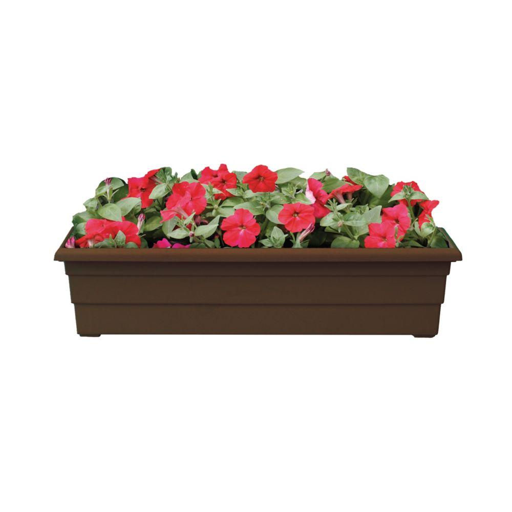 30 In. Veranda Windowsill Planter - Chocolate