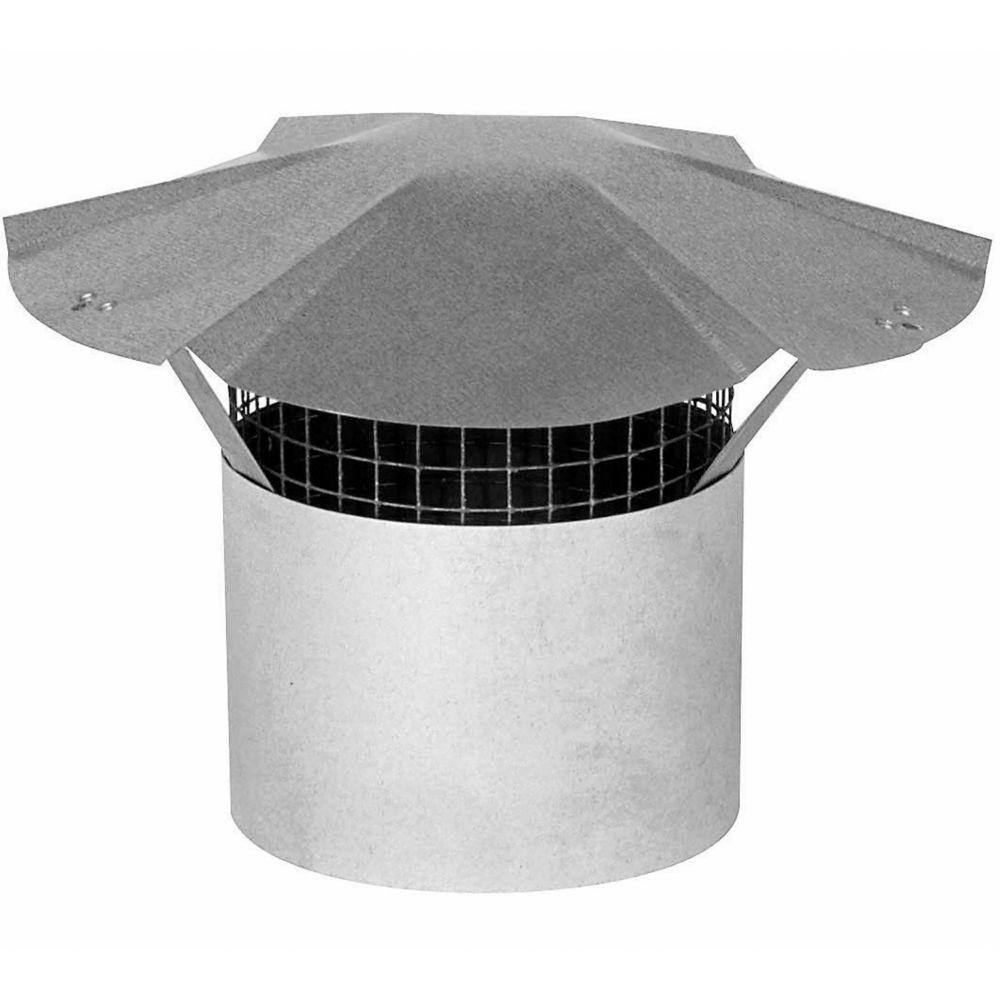 """Chapiteau de cheminée de 4"""" en acier galvanisé"""