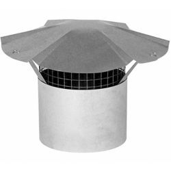 Imperial 5 Inch Galvanized Steel Chimney Cap