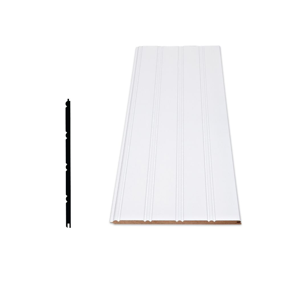 Alexandria Moulding Primed Fiberboard Wainscot Kit - 3 Pieces Of 1/4 In. X 7 In. X 96 In.