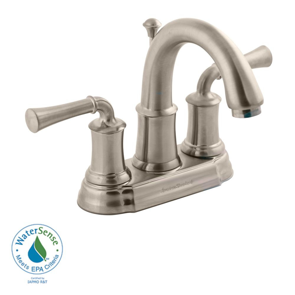 American Standard Portsmouth 4 Inch 2 Handle High Arc Bathroom Faucet With Speed Connect Drain