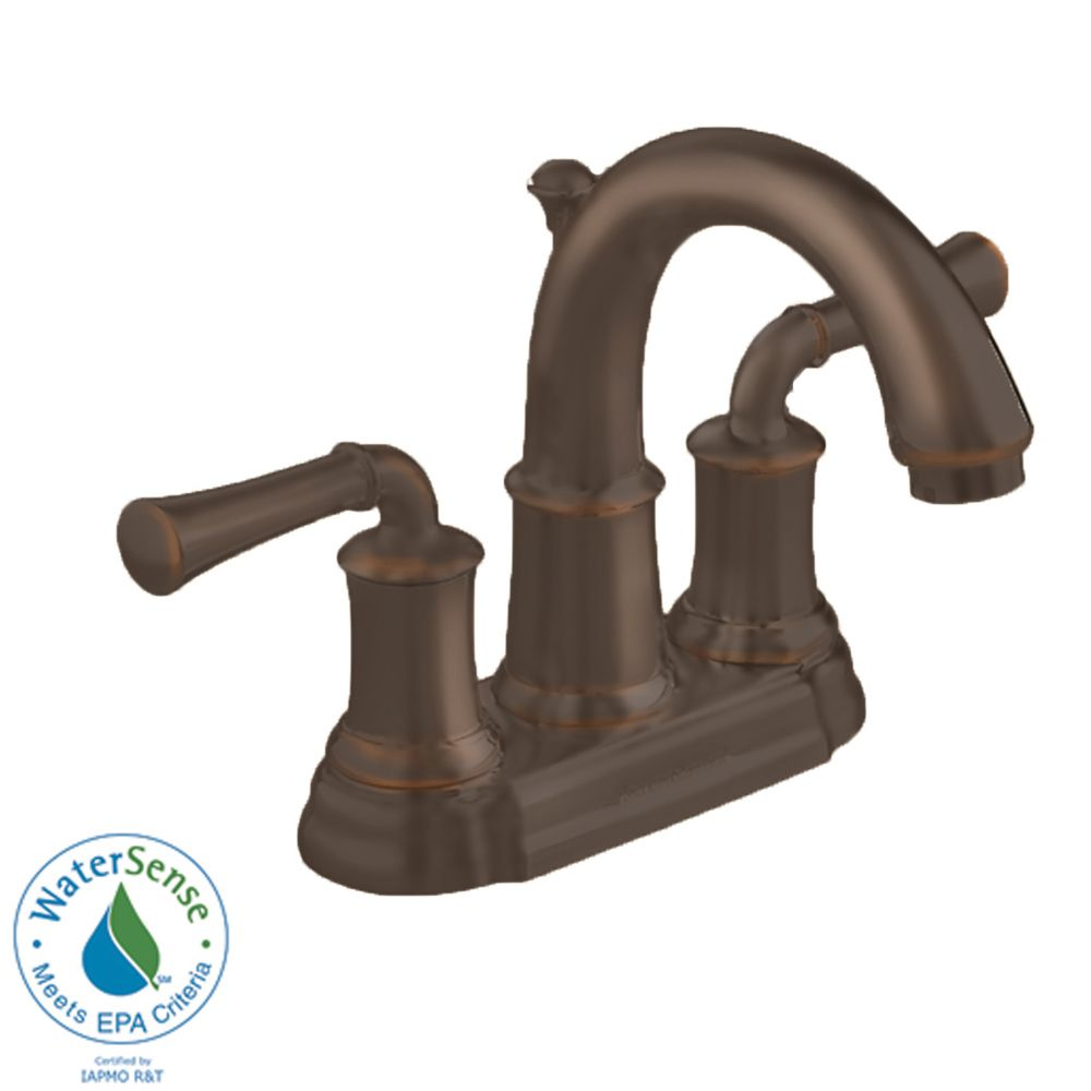 Portsmouth 4-inch 2-Handle High-Arc Bathroom Faucet with Speed Connect Drain in Oil Rubbed Bronze