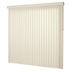 Designview 78x84 Alabaster 3.5 in. Vertical Blind Kit (Actual width 78 in.)