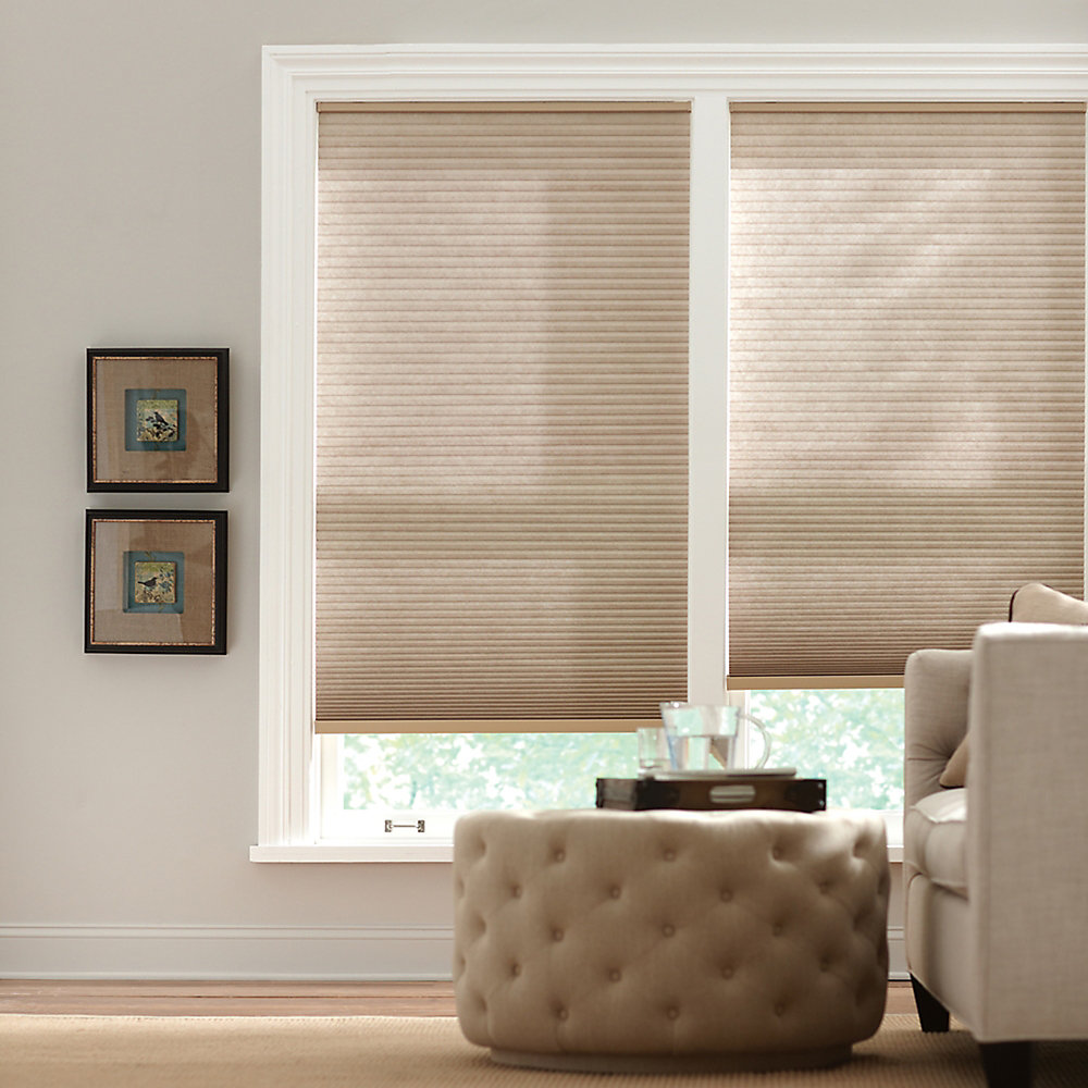 Cordless Light Filtering Cellular Shade Nutmeg 48-inch x 48-inch (Actual width 47.625-inch)