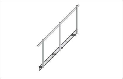 Rallonge descalier en aluminium � 4marches