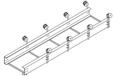 Rallonge de 10pi pour rampe à rouleaux � Rouleaux doubles
