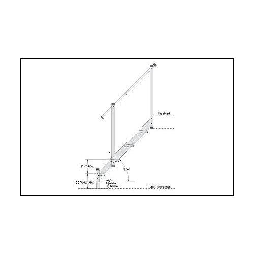 Fendock 4-Step Aluminum Dock Stairs
