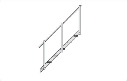 Aluminum Dock Stairs Extension � 2 Steps