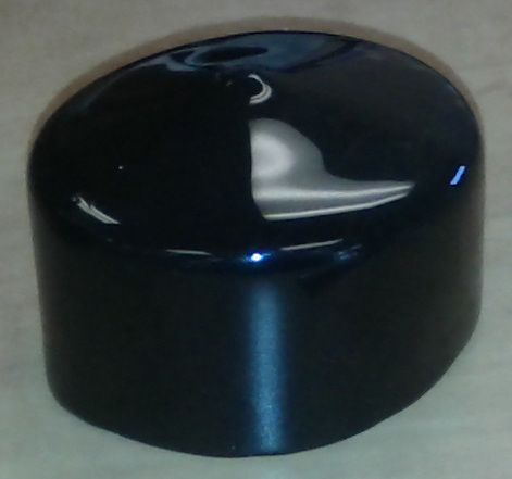 Plastic Cap For Round Dock Leg in Black