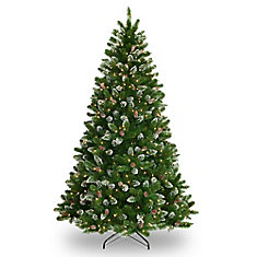 7.5 Foot Crystal Spruce Tree, 700 Lights