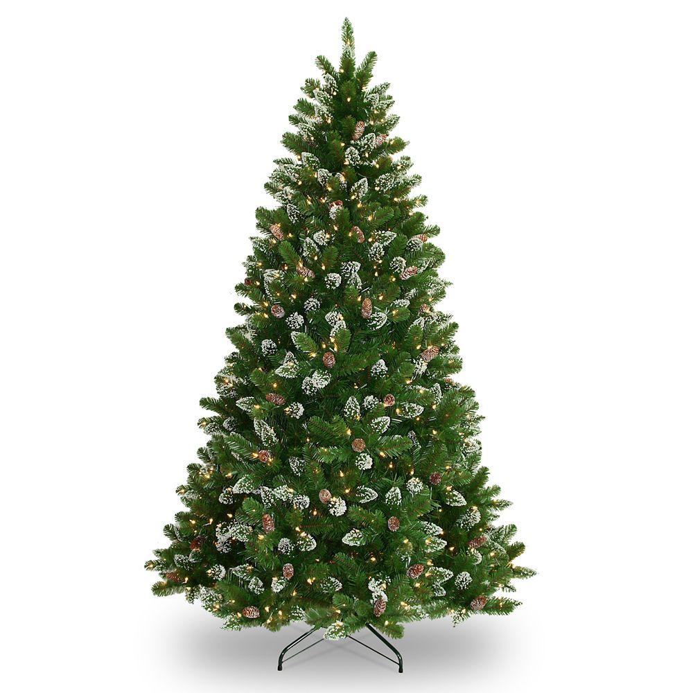 7.5 Foot Crystal Spruce Tree, 700 Lights
